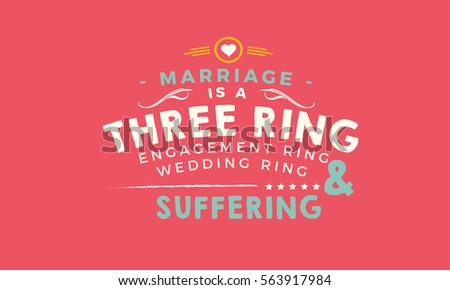 Marriage Three Ring Circus Engagement Ring Stock Vector 563917984