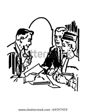 Marriage License - Retro Clipart Illustration