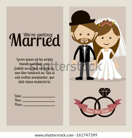 married design over  purple background vector illustration
