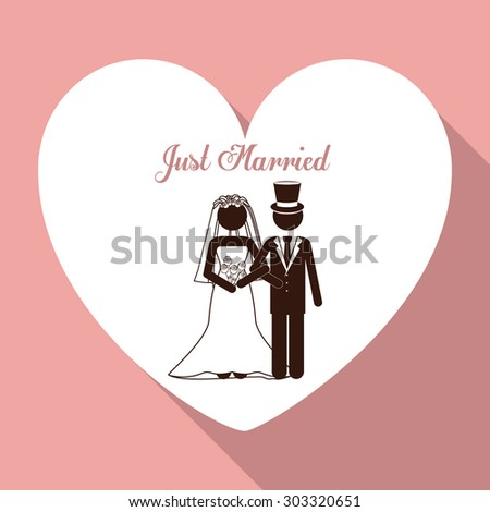 Married digital design, vector illustration eps 10