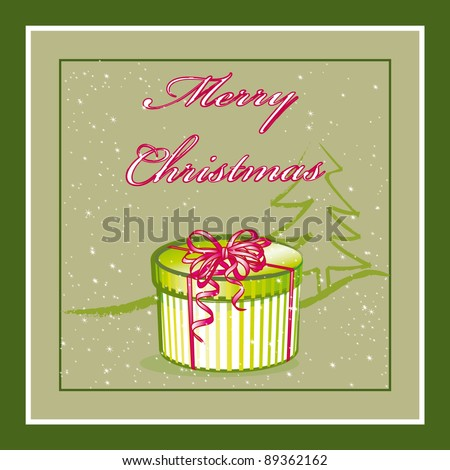 Marry Christmas vector illustration - stock vector