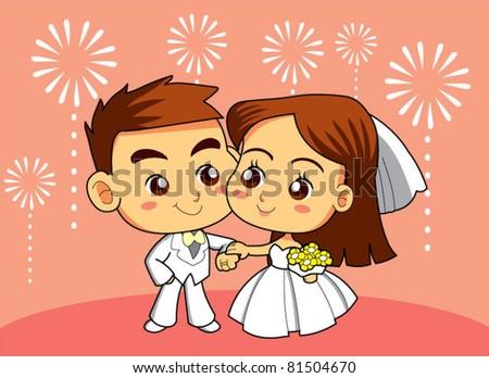 marry couple - stock vector