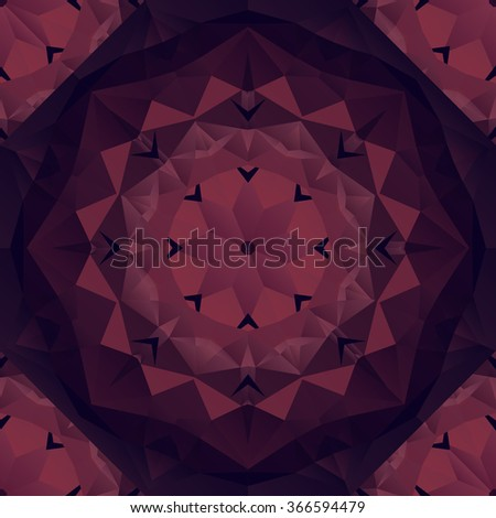 Marsala geometric rumpled triangular low poly origami style gradient illustration graphic background. Vector polygonal design for your business. - stock vector