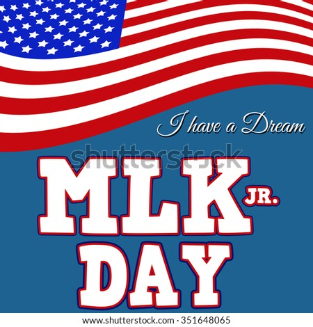 Martin Luther King Day typographic design, vector illustration. Day of Service. - stock vector