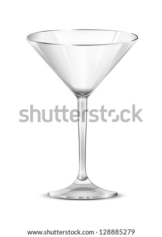 Martini glass. Glass. Vector. - stock vector