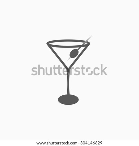 martini glass icon - stock vector