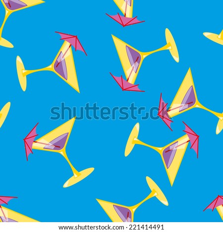 Martini seamless vector pattern illustration clip art