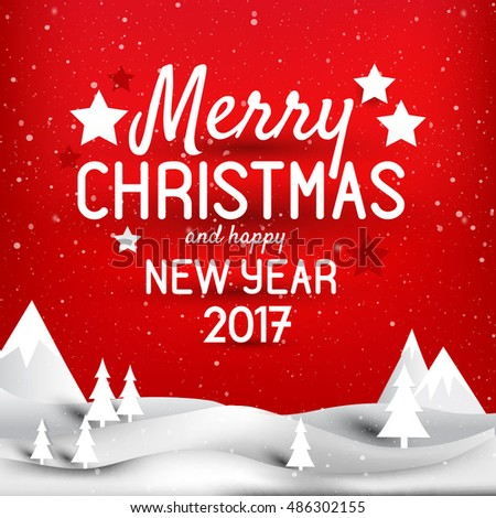 Mary Christmas and Happy New year greeting card  background, vector card, party invitation Holiday vector