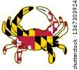 maryland flag crab isolated...