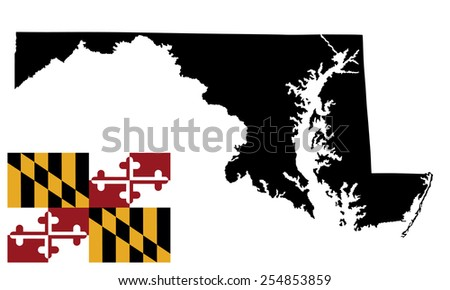Vector Flag United States America State Stock Vector - Us map white silhouette