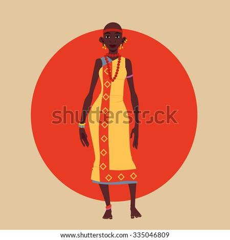 Masai Woman Vector Illustration.  - stock vector