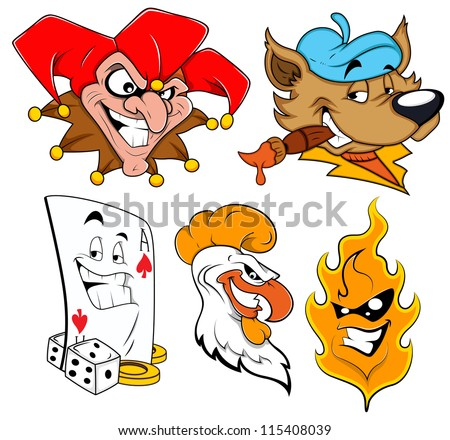 Mascot tattoo Vectors - stock vector