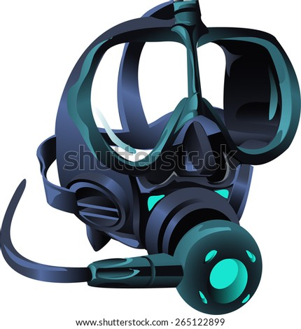 mask diver - stock vector