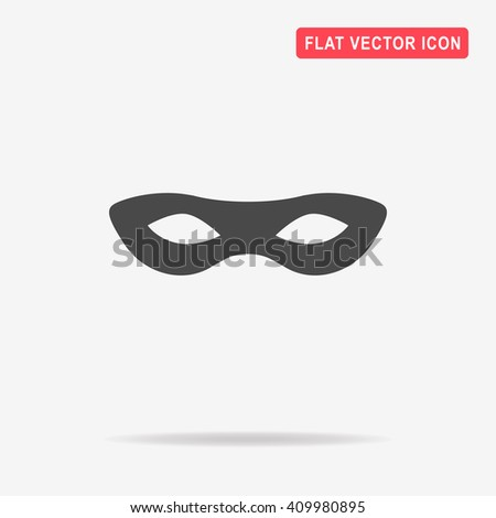 Mask icon. Vector concept illustration for design. - stock vector