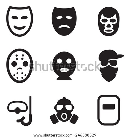 Mask Icons  - stock vector