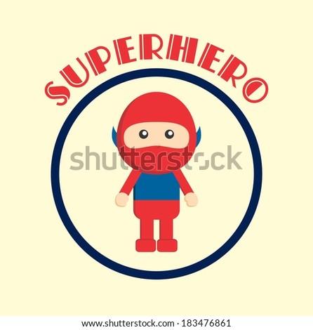 mask little hero - stock vector