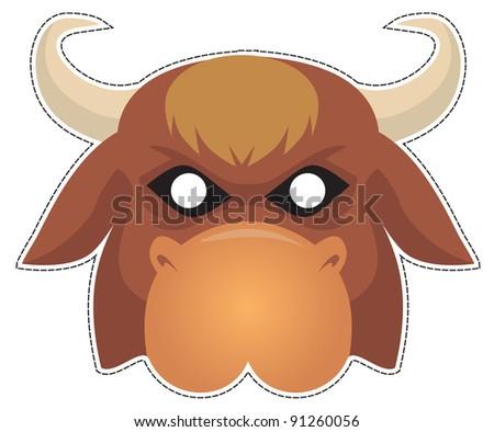 Сделать маску быка своими руками