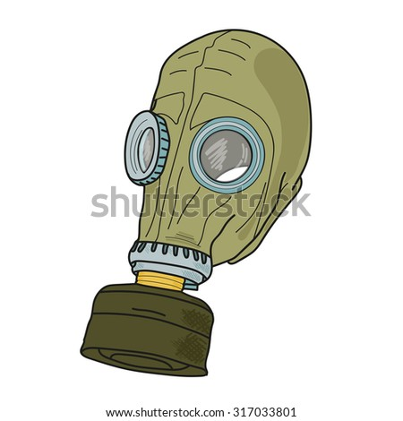 Mask, protection. Chemical attack.  - stock vector