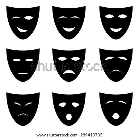 Masks icon set