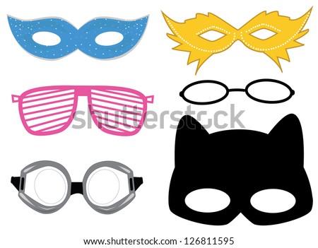 Masks set vector - stock vector