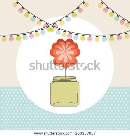Mason Jar Design Vector Illustration Eps 10 Stock Vector 288159857