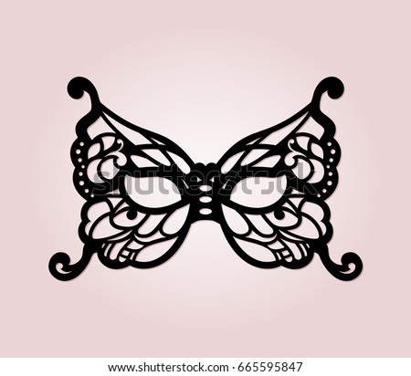 Masquerade mask laser cut details venetian stock vector 665595847 masquerade mask with laser cut details venetian lacy butterfly filigree mask template for laser cutting pronofoot35fo Gallery