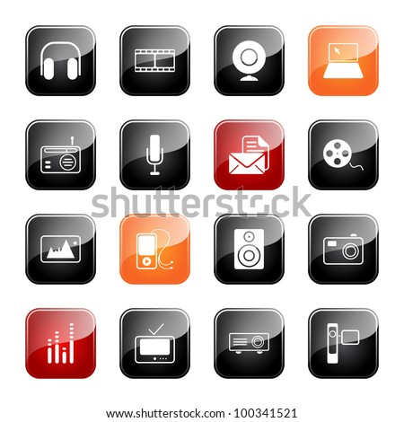 Mass media - professional icons for your website, application, or presentation,eps10 - stock vector