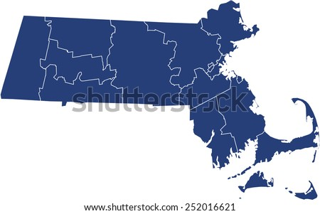 Massachusetts Map Stock Images RoyaltyFree Images Vectors