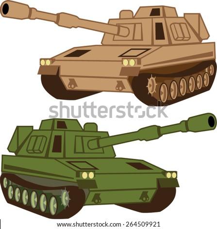 Massive Tank - stock vector