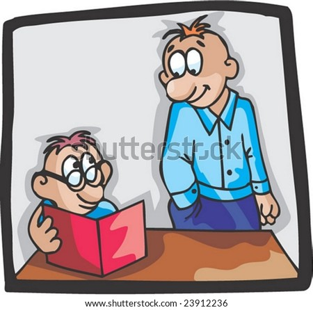 Master and Pupil - stock vector