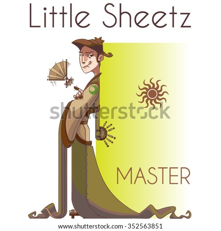 master character design - stock vector