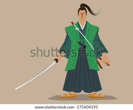 Master fencer (Sasaki, Kojiro) - stock vector