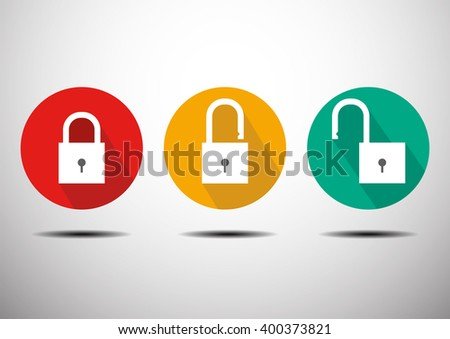Master key icon lock unlock vector illustration