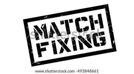 Match Fixing rubber stamp on white. Print, impress, overprint.
