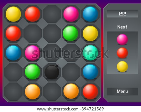 Match 3 Game Vector Graphics Resources