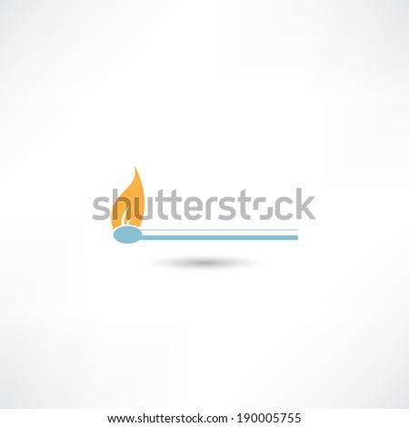match icon - stock vector