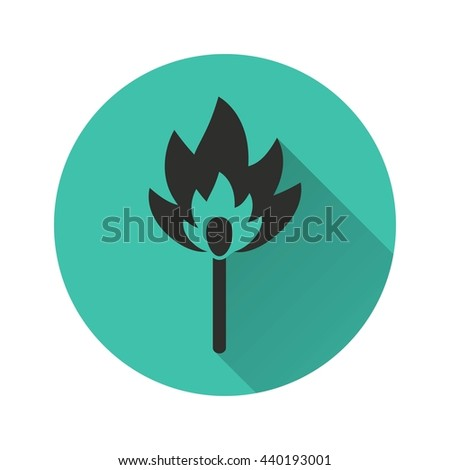 Match vector icon. Illustration isolated for graphic and web design.