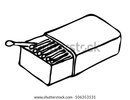 Stock Vector Matches And Matches Box Sketch Doodle Icon on cartoon fuse box