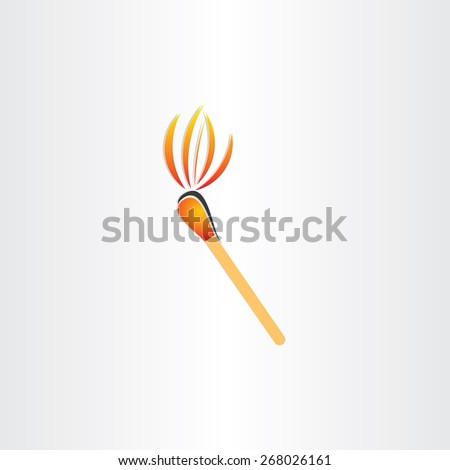 matches burning or fire torch symbol - stock vector