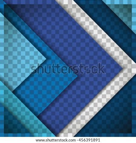 material design blue - stock vector