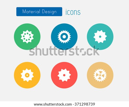 Material design Cog icons - stock vector