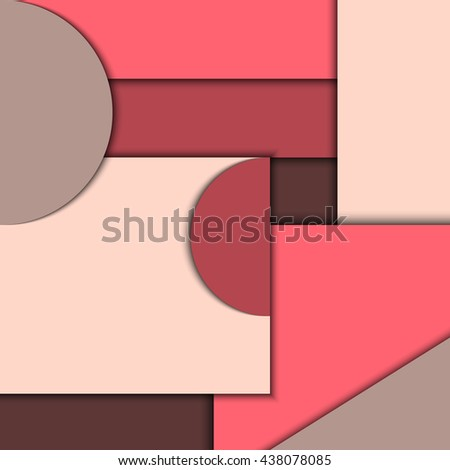 Material design. 3d abstract geometric background. Vector illustration EPS 10. Easy to use and edit. - stock vector