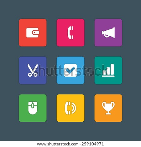 Material Design Style Icons Vector Sign Stock Vector 259104971