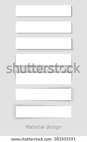 Material Design Vector. Material Design White. Material Design EPS. Material Design Picture. Material Design Set. - stock vector