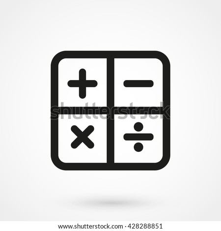 Math Icon isolated on background. Modern flat pictogram, business, marketing, internet concept. Trendy Simple vector symbol for web site design or button to mobile app. Logo illustration - stock vector