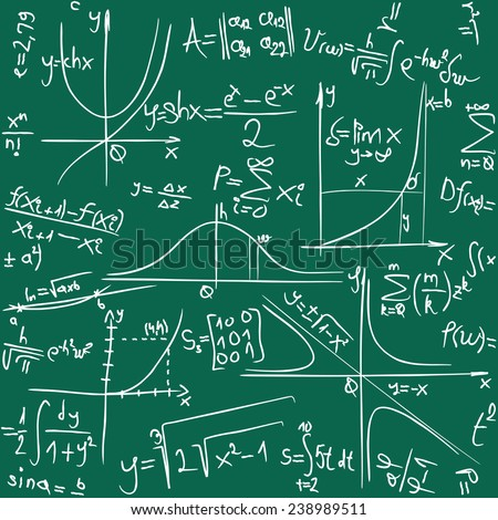 Math Seamless Background Pattern Texture - stock vector