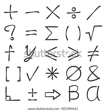 math signs - stock vector