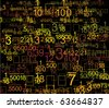 Math Style Background - stock vector