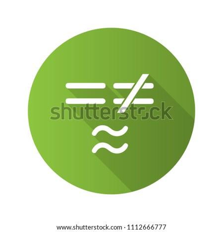 Math Symbols Flat Design Long Shadow Stock Vector 1112666777