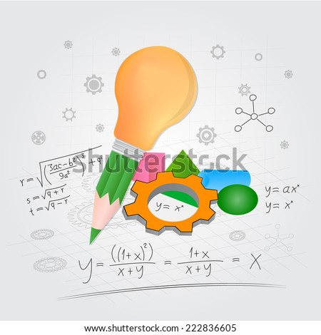 Mathematical concepts - stock vector